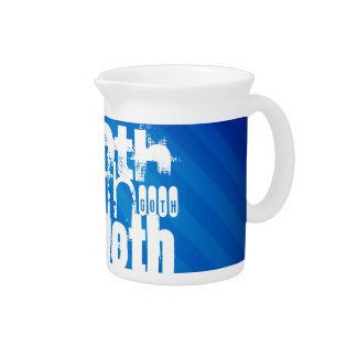 Goth; Royal Blue Stripes Drink Pitcher