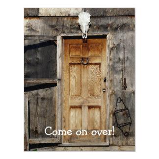 "Goth Rustic Doorway Invitation Card 4.25"" X 5.5"" Invitation Card"