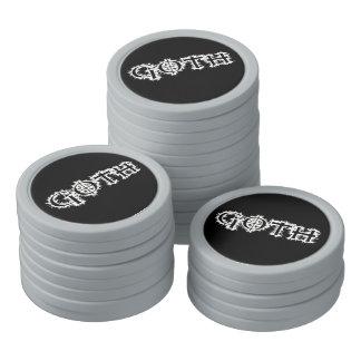 Goth Set Of Poker Chips