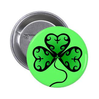 Goth shamrock St. Patrick's day Buttons