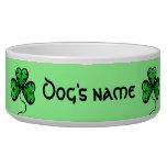 Goth shamrock St. Patrick's day personalized Bowl