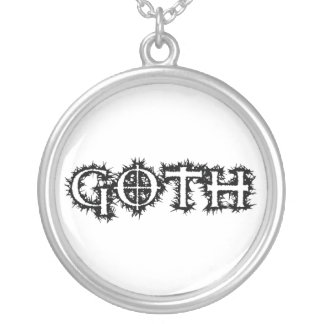 Goth Silver Plated Necklace