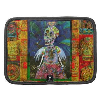Goth Skeleton Angel Girl Art Organizer