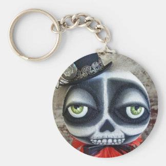 Goth Skeleton Halloween Keychain