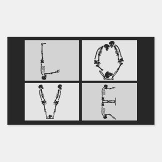Goth Skeleton Love Sticker