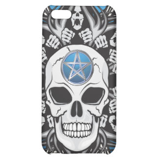 Goth Skull - Blue Case For iPhone 5C