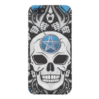 Goth Skull - Blue iPhone SE/5/5s Case