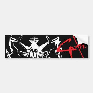 Goth Skull Bumper Sticker
