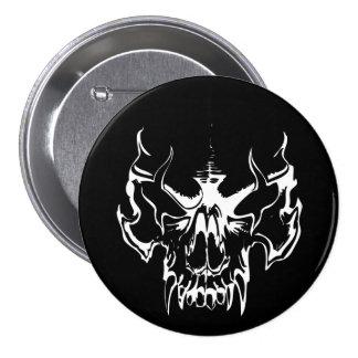 Goth Skull 3 Inch Round Button