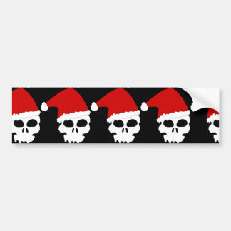 goth skull christmas bumper sticker