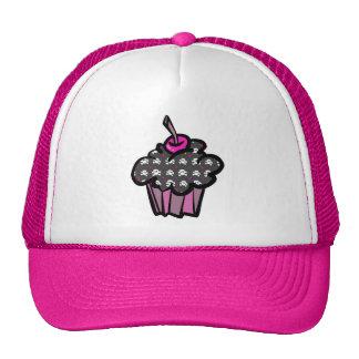 goth skull crossbones cupcake hat