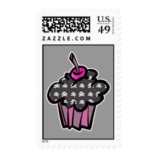 goth skull crossbones cupcake stamps
