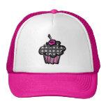 goth skull crossbones cupcake trucker hat