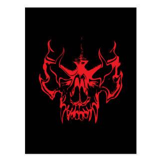 Goth Skull Postcard