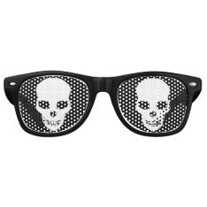 Goth Skull Retro Sunglasses at Zazzle
