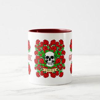 Goth Skull Roses Mug