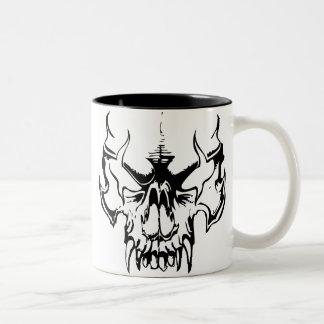 Goth Skull Two-Tone Coffee Mug