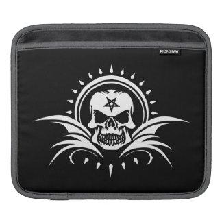 Goth Skull with Bat Wings and Pentagram iPad Sleeve