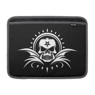 Goth Skull with Bat Wings and Pentagram MacBook Sleeve