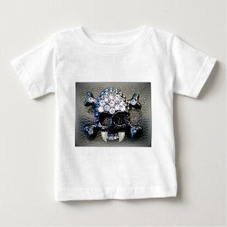 GOTH SKULL WITH VAMPIRE FANGS print Baby T-Shirt
