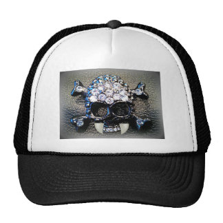 GOTH SKULL WITH VAMPIRE FANGS print Trucker Hat