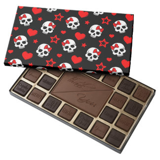 Goth Skulls & Hearts 45 Piece Box Of Chocolates