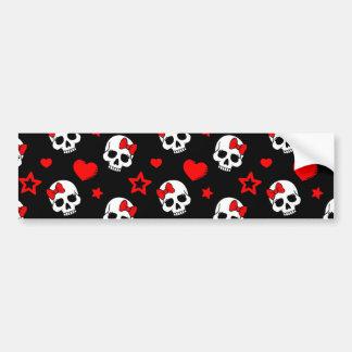 Goth Skulls & Hearts Car Bumper Sticker