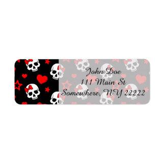 Goth Skulls & Hearts Label