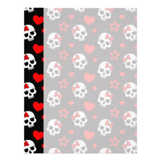 Goth Skulls & Hearts Letterhead