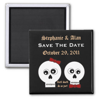 Goth Skulls Save The Date Magnet