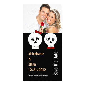 Goth Skulls Save The Date Photo Cards
