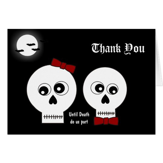 Goth Skulls Thank You Card