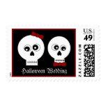 Goth Skulls Wedding Postage