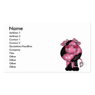 Goth Skully Cow Business Card