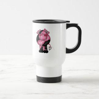 Goth Skully Cow Travel Mug
