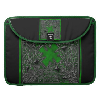 Goth Square: Green Cloud MacBook Pro Sleeves