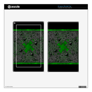 Goth Square: Green Cloud Skin For Kindle Fire