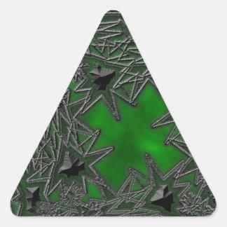 Goth Square: Green Cloud Triangle Sticker
