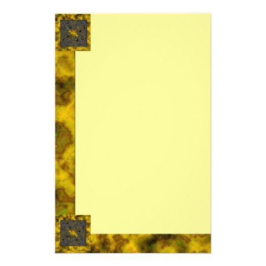 Goth Square: Old Gold, Plain Stationery
