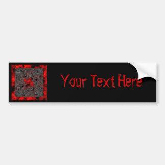 Goth Square: Old Ruby Bumper Sticker