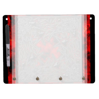 Goth Square: Old Ruby Dry Erase Board With Keychain Holder