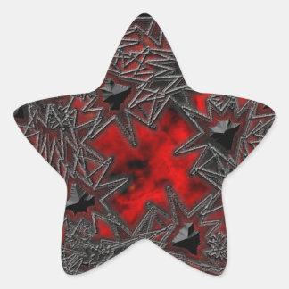 Goth Square: Old Ruby Star Sticker