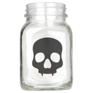 Goth style skull mason jar