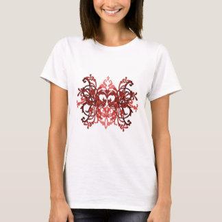 Goth Vintage Burgundy Floral T-Shirt