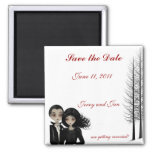 Goth Wedding Save the Date Refrigerator Magnets
