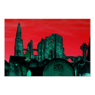 Goth Whitby Abbey Poster