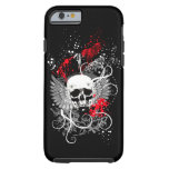 Goth Winged Grunge Skull iPhone 6 case (red) iPhone 6 Case