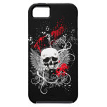 Goth Winged Grunge Skull iPhone Case (red) iPhone 5 Cover
