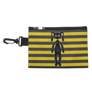 Goth Yellow and Black Bunny Accessory Bag