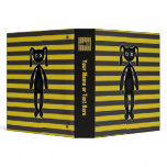 Goth Yellow and Black Bunny Binders